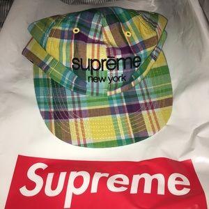 Supreme Plaid Camp Cap Hat